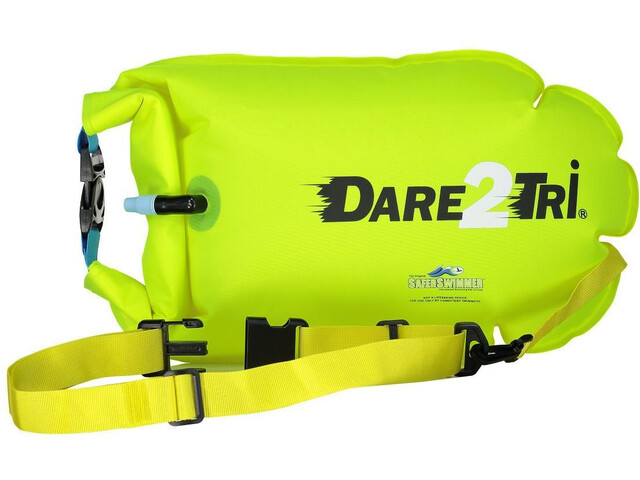 Dare2Tri Safety Swimmer Buoy, neon yellow